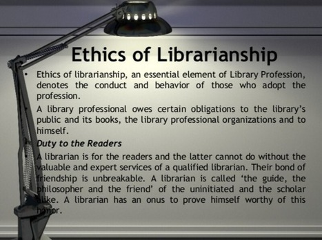 Library ethics for non-librarians - introduction - Home - Doug Johnson's Blue Skunk Blog | Librarysoul | Scoop.it