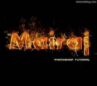 How To Create Fire Text Effect Photoshop – Easy Tutorial - E Tutorial Blog | ETutorialBlog | Scoop.it