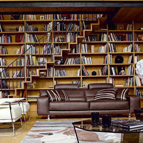 40 Home Library Design Ideas For a Remarkable Interior | Book Club | Scoop.it