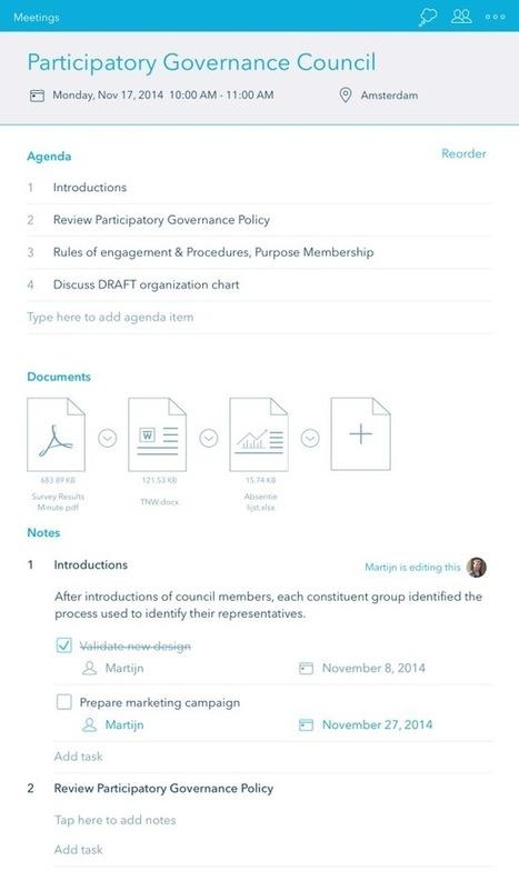 Minute. Outil de préparation et de gestion de vos réunions | com digitale | Scoop.it