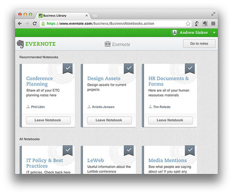 Evernote Business Released as a Collaboration & Communication Tool | Collective Intelligence & Distance Learning | Scoop.it
