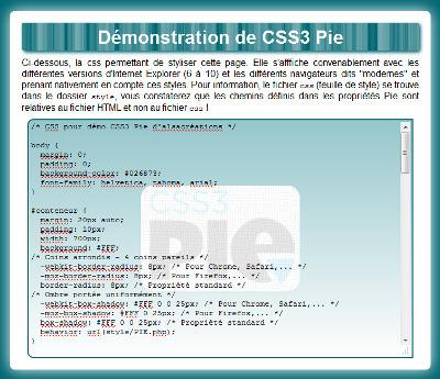 CSS3Pie, styles CSS3 pour Internet Explorer - Alsacreations | CRAW | Scoop.it