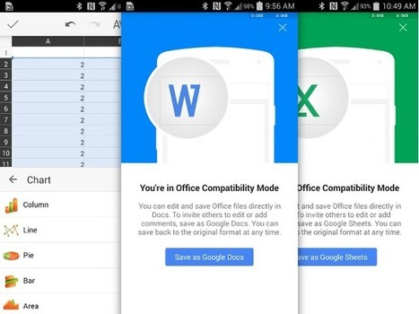 Google met à jour Docs et Sheets sur Android pour compenser QuickOffice | netnavig | Scoop.it