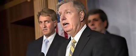 Chuck Schumer caught asking if Lindsey Graham and Jeff Flake get a pass on voting for immigration amendment | Current Politics | Scoop.it