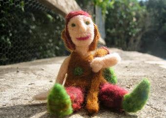 Green Dot Creations: The Fleeting Man | Needle felting art by Green Dot Creations' Studio! | Scoop.it