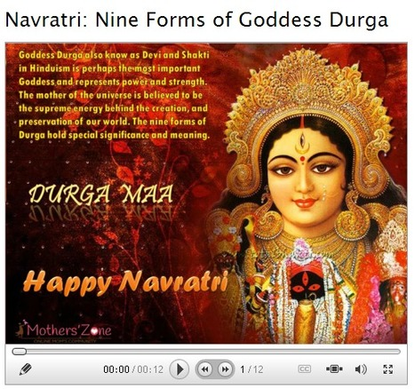 Navratri: Nine Forms of Goddess Durga | Motherhood | Scoop.it