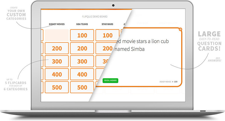 FlipQuiz | Gameshow-style Quiz Boards for Educators