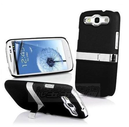 Samsung phone cases : Black Chrome Samsung Galaxy S3 case with flip stand | Apple iPhone and iPad news | Scoop.it