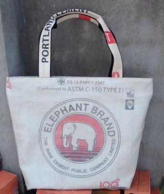 Recycled Cement Elephant Shopping Bag, handmade ethically by disabled home based workers. | Eco-Friendly Wallets and Bags. | Scoop.it