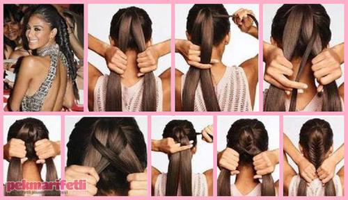Как быстро сделать прическу на длинные волосы самой фото