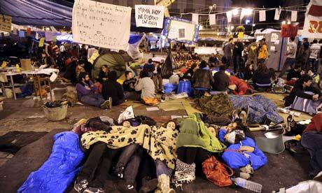 Spanish protesters head for standoff with police in Madrid square - The Guardian | Human Rights & Freedoms News | Scoop.it