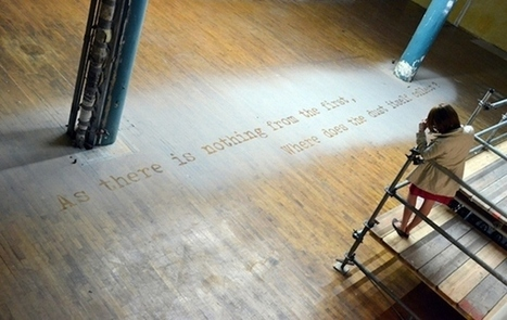 Spine-Chilling Typography Made With Residual Dust From 9/11 Aftermath   Week 5 Forum   Scoop.it