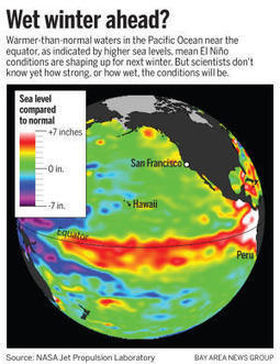 California drought: El Niño probability raised to 78 percent for next winter | Sustain Our Earth | Scoop.it