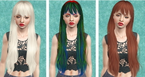 Newsea's Janice hairstyle retextured by Beaverhausen | Sims 3 Downloads | Scoop.it