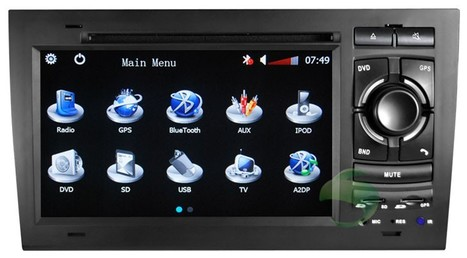 audi a8 navigation system with dvd player raido bleutooth | car dvd gps | Scoop.it