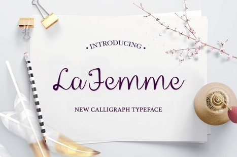 La Femme Script | Free Font of the Day | Design Freebies & Deals | Scoop.it