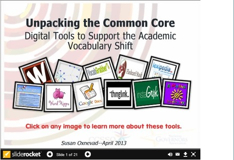 Unpacking the Common Core: Digital Tools to Support the Academic Vocab Shift | college and career ready | Scoop.it