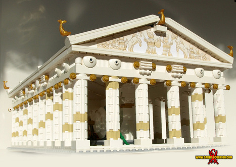 LEGO Parthenon - Ancient Greek Temple of Athena - Saber-Scorpion's Lair - Personal Website of Justin R. Stebbins | Mundo Clásico | Scoop.it