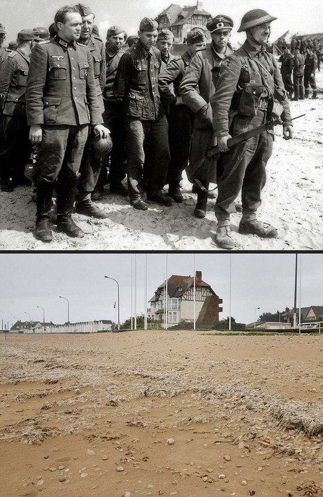 Photographs that compare D-Day battlefields then and now | British Genealogy | Scoop.it