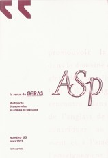 Asp : la revue du GERAS (anglais de spécialité) | TELT | Scoop.it