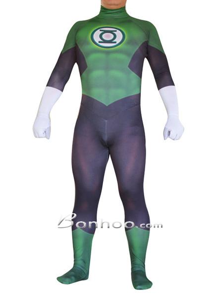 New Green Lantern Superhero Spandex Lycra Costume | New superhero costumes on bonhoo.com | Scoop.it