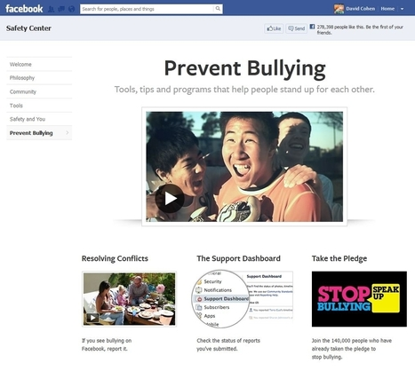 Facebook Launches Prevent Bullying Page - AllFacebook | Computer Ethics and Information Security | Scoop.it