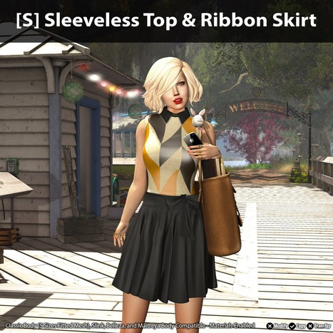 [S] Sleeveless Top & Ribbon Skirt Group Gift by [satus Inc] | Teleport Hub - Second Life Freebies | Second Life Freebies | Scoop.it
