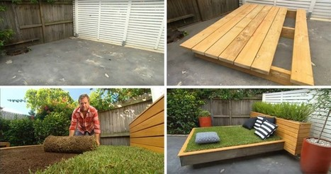 How to make an amazing grass daybed out of wood pallets | Scoopamo awesome | Scoop.it