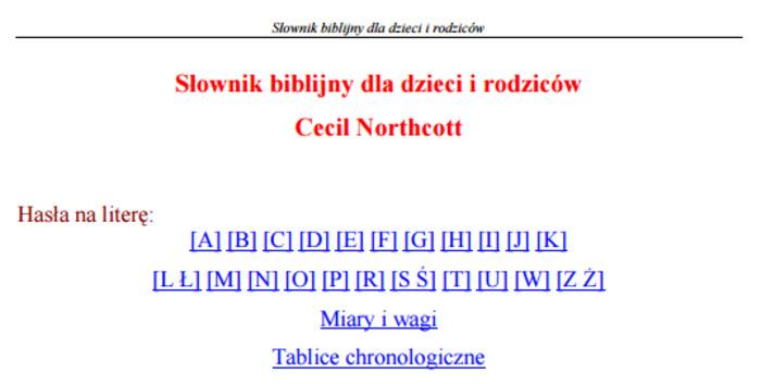 (PL) (PDF) - Słownik biblijny dla dzieci i rodziców | Cecil Northcott | Glossarissimo! | Scoop.it