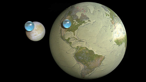 Cool visualization shows liquid water on Earth vs Jupiter's moon Europa | Daily Magazine | Scoop.it