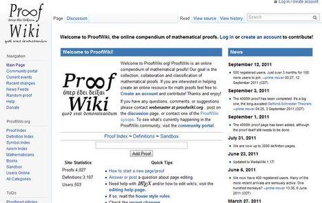 ProofWiki, compendio en línea de demostraciones matemáticas.- | Matemáticas.- | Scoop.it