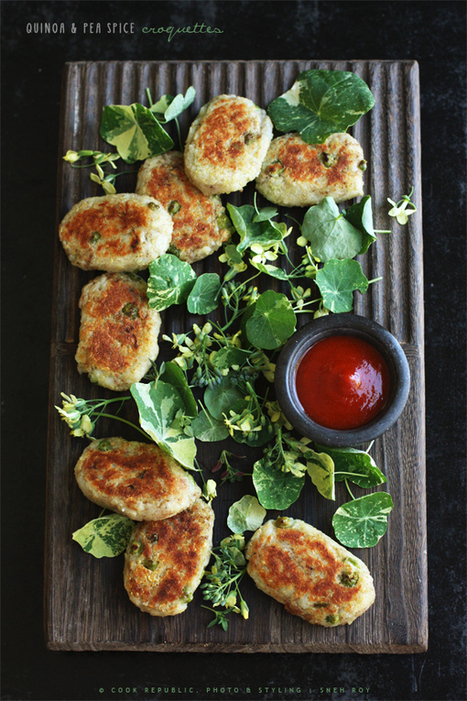 Quinoa And Pea Spice Croquettes | Cook Republic | thinking about food | Scoop.it