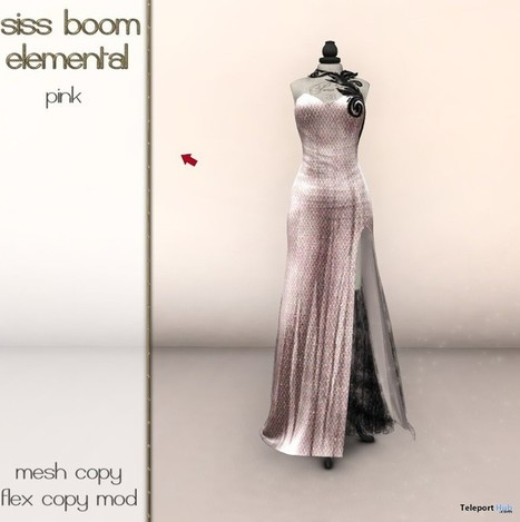 Elemental Pink Gown Group Gift by siss boom | Teleport Hub - Second Life Freebies | Second Life Freebies | Scoop.it