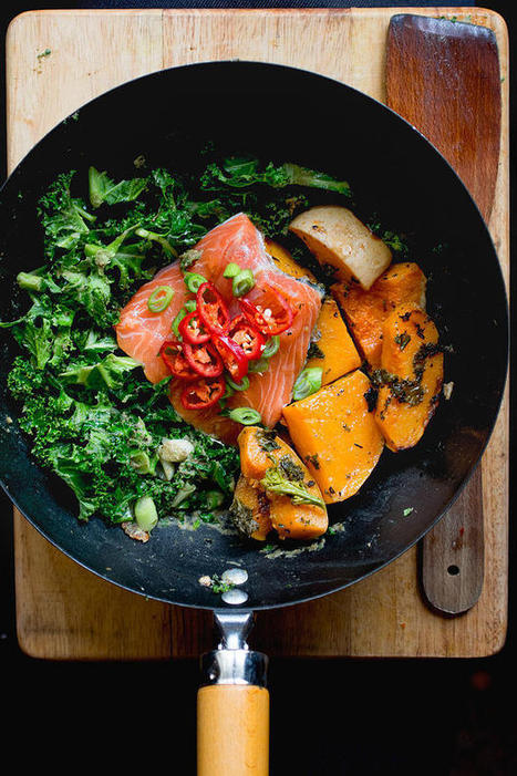 #HealthyRecipe / Spring Onions & Salmon | The Man With The Golden Tongs Goes All Out On Health | Scoop.it