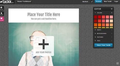 Tackk. Creer des pages web simplement | Créer le projet numérique du collège. Théorie, outils TICE, scenarii pédagogiques... | Scoop.it