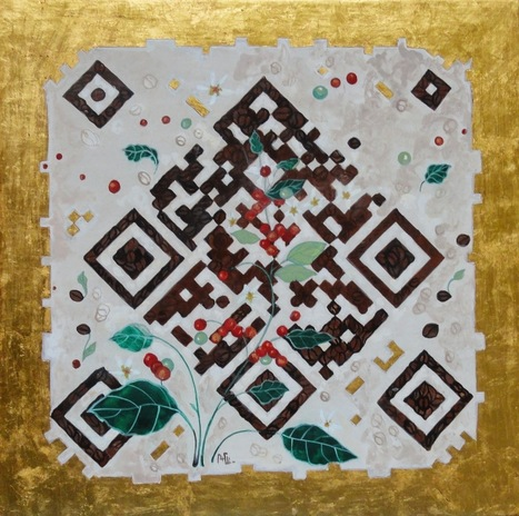 QR CODE ITALY: The artist Carolina Franza and the QR code to the Coffee Museum of Trieste - born QR CAFFE ' | artcode | Scoop.it