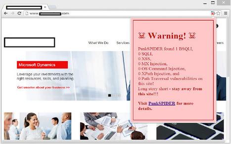 PunkSpider: un moteur de recherche des sites web vulnérables | INFORMATIQUE 2015 | Scoop.it