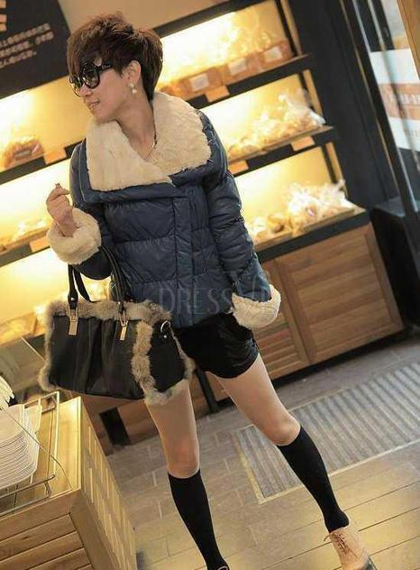 Temperament Korean Style Long Sleeve Cotton PU Thickering Ladys Outwear   the fashion clothes shoes dress bags   Scoop.it