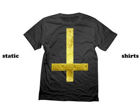 Upside Down Cross Shirt | Fashion Gold Cross Tshirt | Fashionista Clothing | Fashion Shirt | Scoop.it