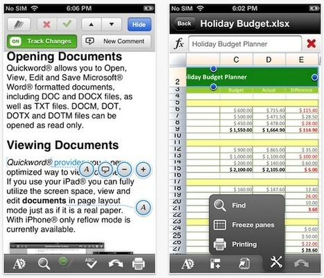 Google's Quickoffice app updated with iPhone support | Using Word PowerPoint and Excel on iPad | Scoop.it