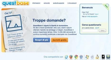 QuestBase: la web app italiana per creare questionari, test ed esami. Videorecensione ed intervista esclusiva | ICT - TIC e didattica | Scoop.it