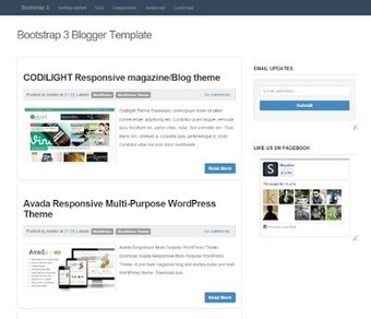 Template Blogger Simple Responsive dengan Bootstrap | Blogger themes | Scoop.it