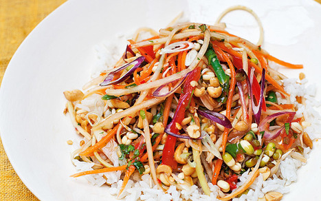 The new vegetarian: papaya salad with coconut rice recipe - Telegraph.co.uk | @FoodMeditations Time | Scoop.it