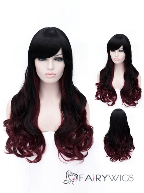 Easy Side Bang Hairstyle Medium Wavy Capless Synthetic Wigs : fairywigs.com | Synthetic Hair Wigs | Scoop.it
