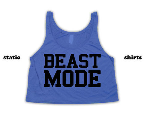 Beast Mode Tank Top | Fitness Crop Top | Workout Clothing | Fashion Shirt | Scoop.it