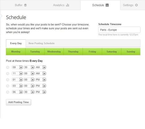 Buffer, cet excellent outil de planification | Book'n geek | La prise en compte du temps modifie-elle-la prise de décision ? | Scoop.it