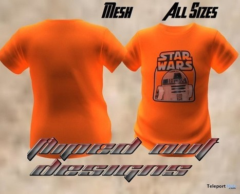 Starwars Orange T-Shirt by Fliped Out Designs | Teleport Hub - Second Life Freebies | Second Life Freebies | Scoop.it