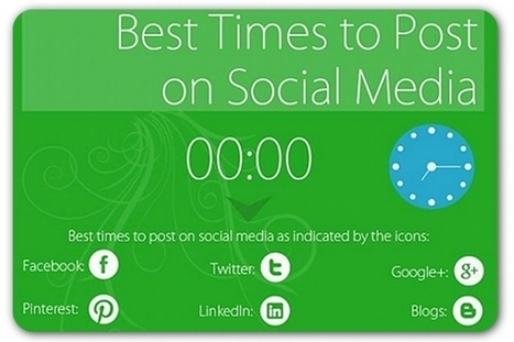 The best times to post on social media | Social Media Articles & Stats | Scoop.it