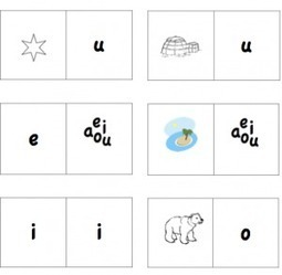 Printable Spanish Game – Dominoes with Vowels from Spanish Playground » Spanish Playground | Learn Spanish language | Scoop.it