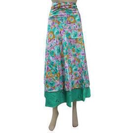 moguinterior Beach Wrapskirt Aqua Green Floral Reversible Wrap Around Skirts - Clothing - Women's - Skirts | Bohemian Harem Pant | Scoop.it